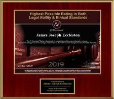 James Eccleston Achieves Highest Rating in Both Legal Ability and Ethical Standards for 2019