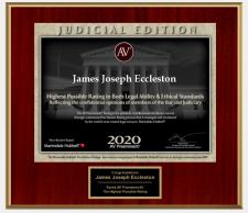 James Joseph Eccleston 2020 AV Preeminent® Rating Judicial Edition