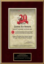 Jim Eccleston Awarded Prestigious Recognition